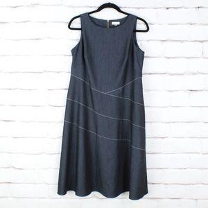 Calvin Klein Blue Tank Top Dress Size Plus